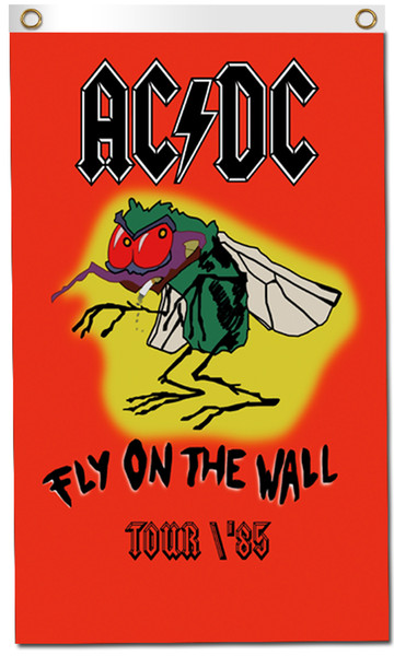 ACDC FLAG 3x5FT 90x150CM TWO GROMMETS
