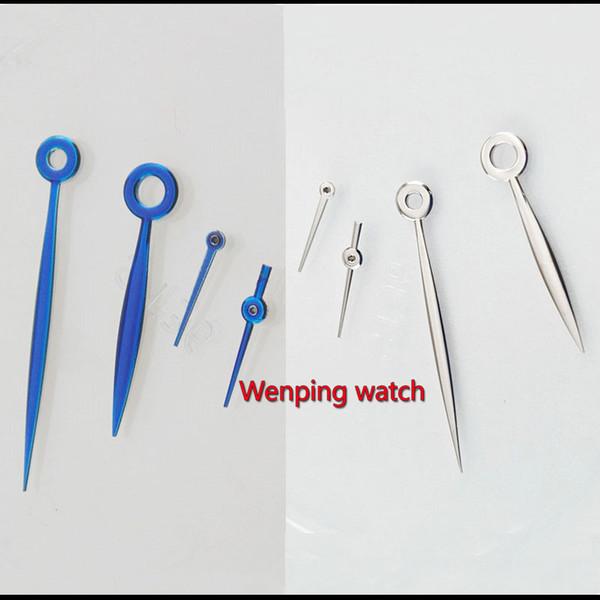 Manecillas del reloj de 4 agujas azul / plateada Parte del reloj Gaviota st2530 indicador de movimiento de almacenamiento de energía P861
