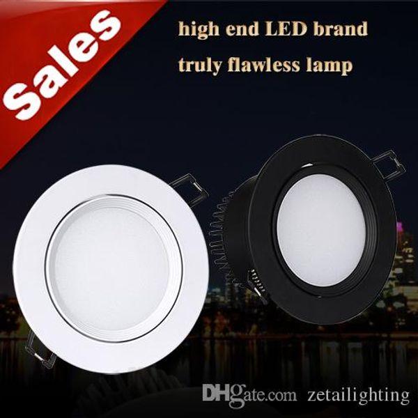 Anti glare 3W 5W 7W 10W COB LED recessed downlights adjustable angle ceiling lights white/black CREE LED down lights AC85-265V