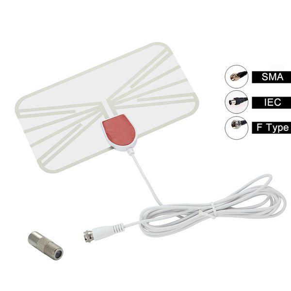 Indoor Digital TV Antenna HD Aerial Interior Amplifier DVB-T2/T UHF VHF Antenna