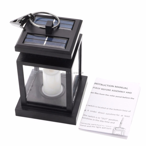 For Outdoor Hanging Candle Lamp LED Solar Powered Garden Wall Carriage Lantern Light Promotion