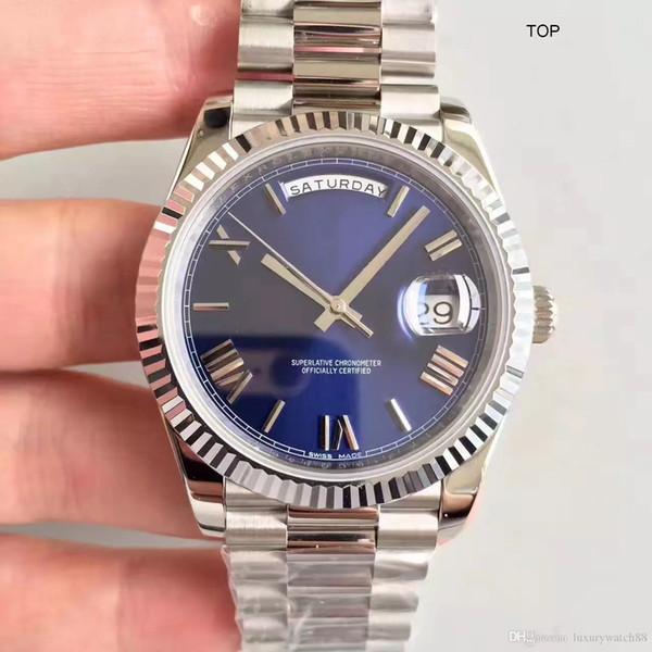 Relógio de luxo para homens top EW Fábrica V2 41mm 116334 dia data Dial Aço Inoxidável 316L CAL.3255 Mecânico Automático Mens Relógios 041603