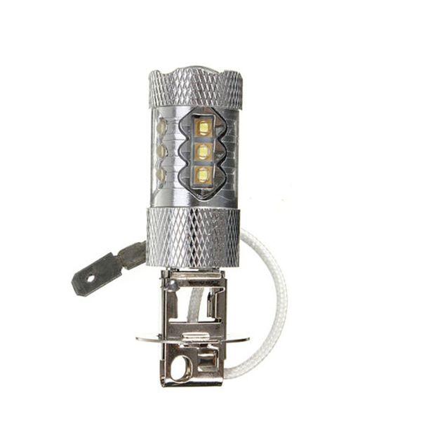 H1 H3 80W Haute Puissance LED Brillant Blanc Brouillard Queue Tourner DRL Auto Courant De Conduite Ampoule 12V