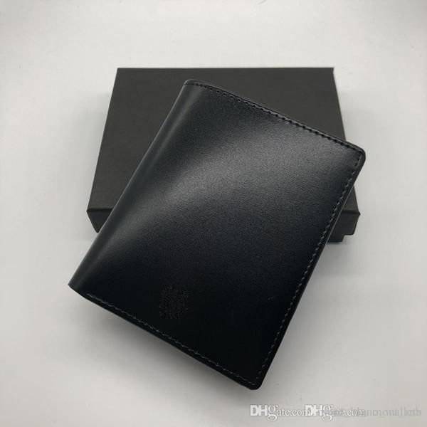 2018 luxury men's fashion leather wallet MB short clip brand designer card package MT business card holder high quality M B suit wallet