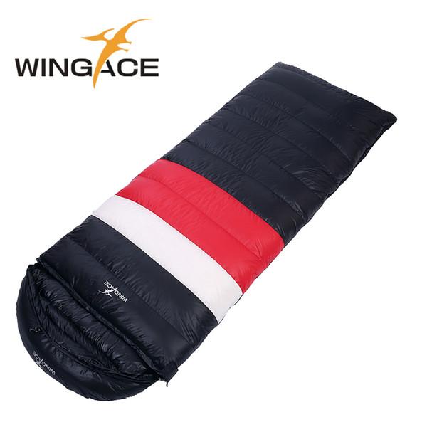 WINGACE 3 Temporada Encher 1000G Duck Down Ultraleve Saco de Dormir Equipamentos de Camping Ao Ar Livre Turismo Envelope Sacos de Dormir Adulto