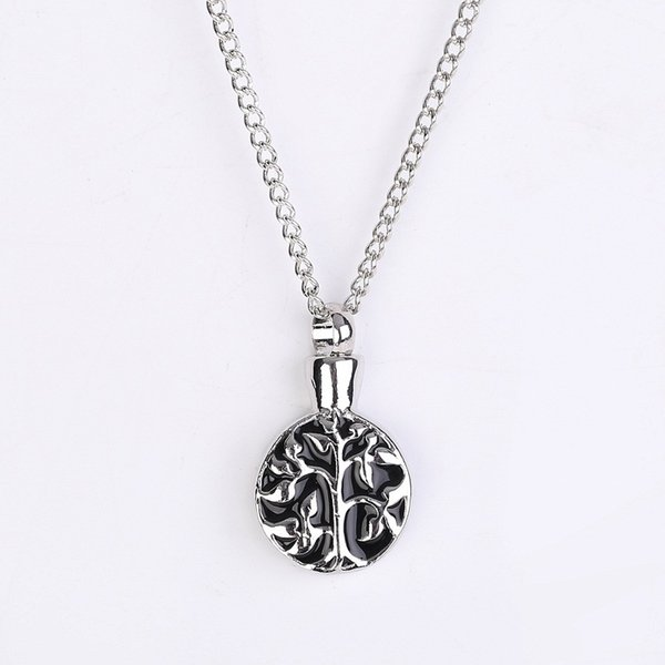 Best selling jewelry wholesale Creative Life Tree Pendant Long Necklace sweater chain Lockets can be opened pendant necklace