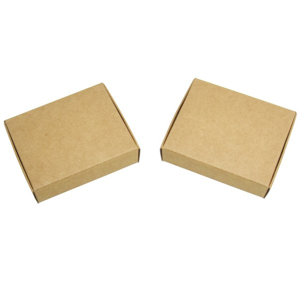 13*9.5*3cm Boutique Brown Kraft Paper Gift Package Paperboard Boxes Wedding Jewelry Party Gift Card Handmade Candy Chocolate Package Boxes
