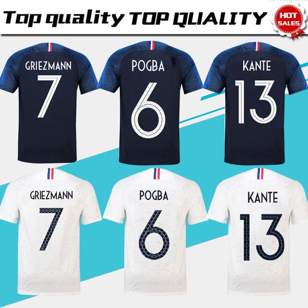 dos estrellas France soccer jersey football shirt Francia Camisetas de  fútbol 2018 copa del mundo Maillot b7af9765b501a