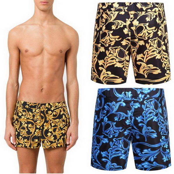 91a1e34565 Polyester Swim Shorts Men Beach Wear 2018 Summer Swimming Printed Floral Board  Shorts Pants Design Men's