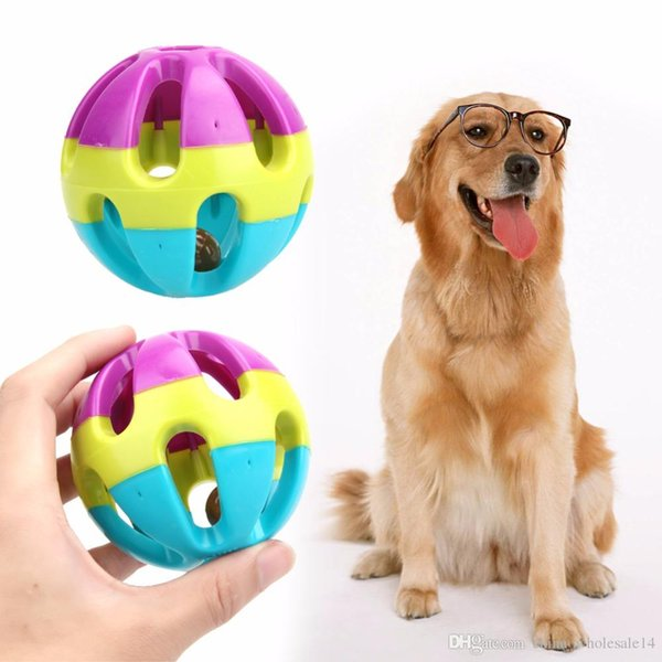 1 Pc Wholesale Pet Dog's Toys Happy Jingle Bell Ball Chewing Ball Toy for Dogs Cats Funny Pet Interactive Toy Dog Supplies