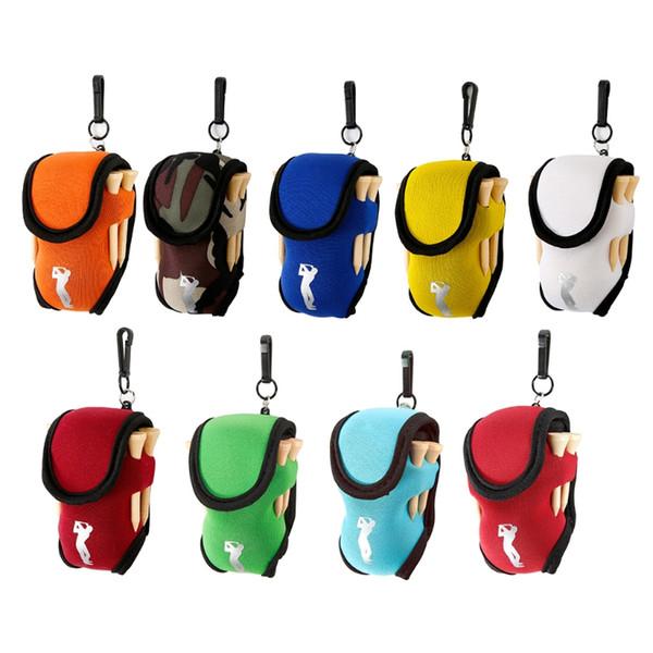 THINKTHENDO Elastic Neoprene Mini Golf Ball Holder Bag Carry Pouch Belt Clip For Training