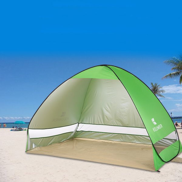 Quick Automatic Opening Beach Tent For 1-2 Person Outdoor Ultraviolet -Proof Waterproof Tent Summer Tent For Camping Fishing