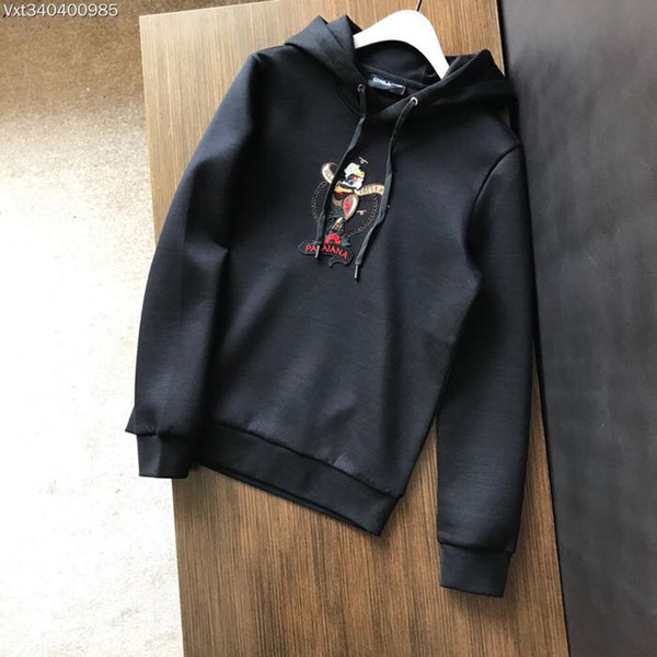 2018 yeni Yüksek Kalite moda Hoodies Tişörtü Pist adam Marka Lüks erkek Giyim WA10120