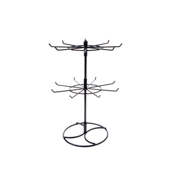 Multifunctional Metal Necklace Chain Bracelet Rotation Holder Jewelry Display Stand Rack Hanger
