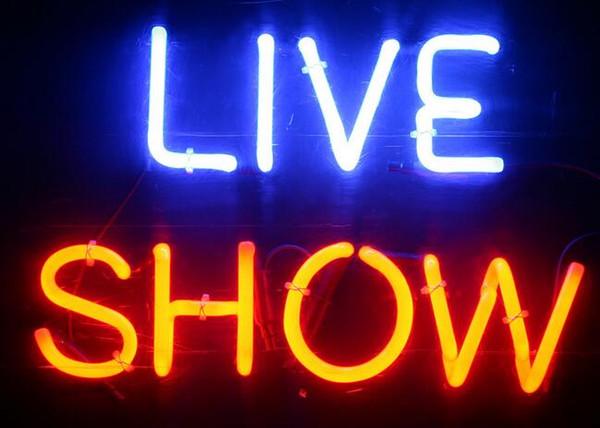 Живое шоу неоновая вывеска реальная стеклянная трубка бар паб магазин Бизнес Реклама украшения дома искусство подарок дисплей металлический каркас размер 17