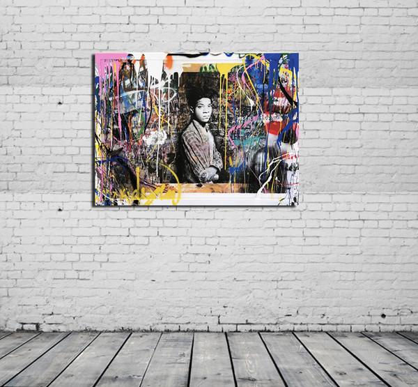 Acheter M Brainwash Samo Moderne Abstrait Peinture à L Huile Sur Toile Peinture Murale Art Déco Pour La Décoration Maison De Salon De 16 24 Du