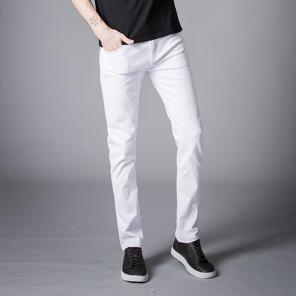 2018 Spring New men Jeans Black/White Classic Fashion Designer Denim Skinny Jeans men's casual High Quality Slim Fit Trousers