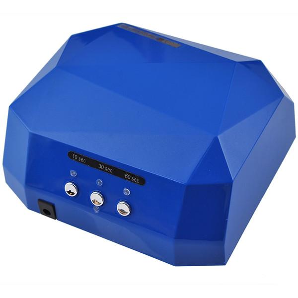 Auto Sensor 36W 110V-220V LED Lámpara para Secador de Uñas Diamond Shaped Long Life Cure de secado rápido para Uñas de Gel UV Polaco Manicura