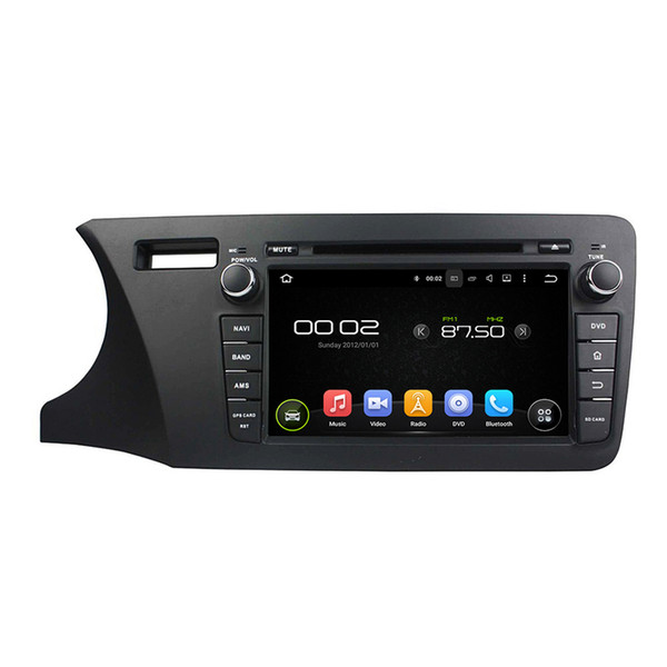 Car DVD player for Honda CITY 2014 Left driving 8inch Andriod 8.0 with 2GB RAM,Octa-core,GPS,Steering Wheel Control,Bluetooth,Radio