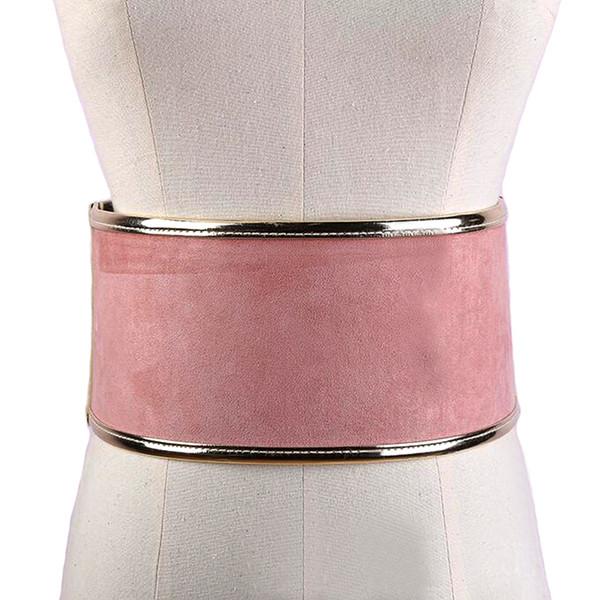 Женская эластичность искусственной замши зашнуровать широкий корсет пояса 2017 новая мода черный корсет талии пояс Shape-Making аксессуары