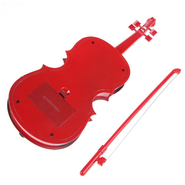 5 PCS (Red kids Educational Creative Gift Toys Simulation Led Violin Musical Toy Batteries no incluidos)
