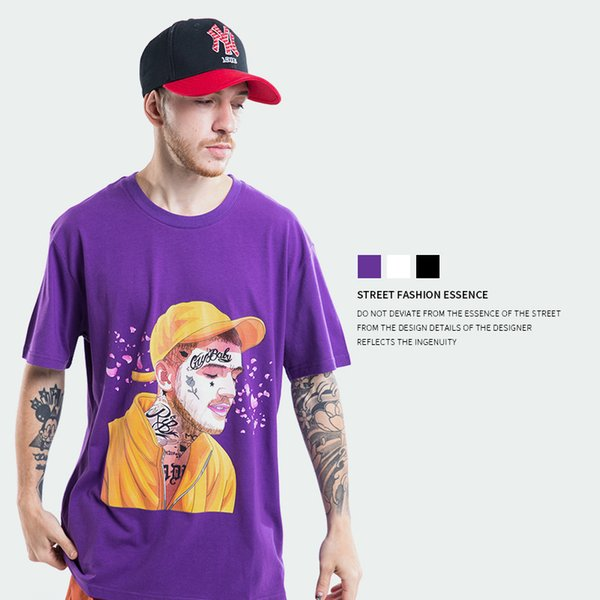 TXX 2018 European and American fashion, spring and summer new men's cartoon tattoo men's printed men's short sleeved round neck T-shirt
