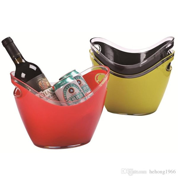 Bar KTV Ice Storage Bucket Plastic Double Deck Champagne Buckets Beer Cooler Gold Ingot Shaped Red Wine Barrel Many Size 35hy2 ZZ