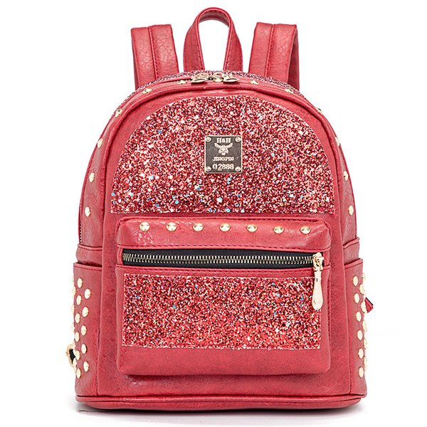 Fashion Sequined Women Bags Multifunctional Zipper Backpack Female Cute Small Bag for Girls High Quality