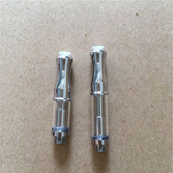 Mini Cartomizers Glass Vape Tank Dual Coil 510 Cartridges Stainless Steel Drip Tips WAX Thick Oil Vaporizer Atomizers BUD GLA3
