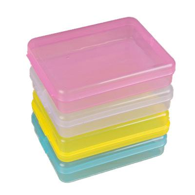 Wholesale 4 Colors Plastic Visable Clear Storage Box for Jewelry Earrings Toys Storage Tools Gadgets Kitchen Accessories