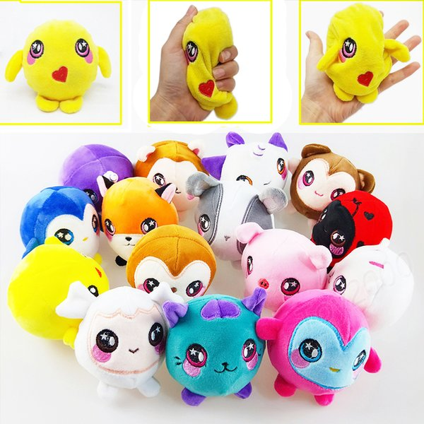 top popular Squishamals Kawaii Animal Plush Squishy Stuffed Slow Rising Toys Stress Reliever Phone Charms Squeeze Decompression kids toys Gift 2019