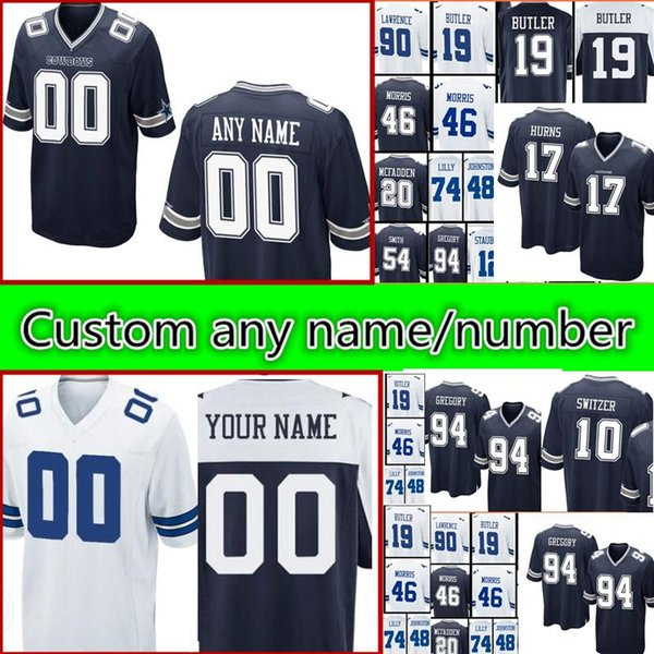 Dallas Cowboys custom Jerseys Men s 12 Roger Staubach 10 Ryan Switzer 46  Morris 74 Lilly 20 McFadden 48 Johnston 54 Smith Jersey 22ae84c3f