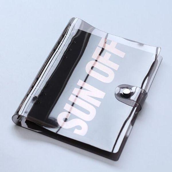 A5 A6 PVC Transparent Spiral Agenda Traveler Journal NotSheet Shell School DIY 6 Holes Binder Diary Planner Cover