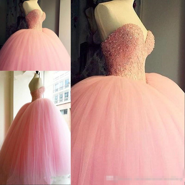 Compre Vestidos De Quinceañera Pink Ball Quinceanera 2018 Sexy ...