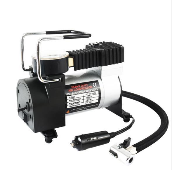 best selling Vehicle inflatable pump tire pressure pump tire pressure gauge 12V metal electric emergency tool portable