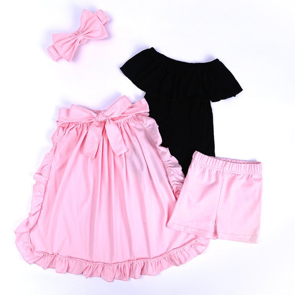 Infant Kids Baby Girls Clothes Ruffle Tops Shorts Pants Dress Skirt Outfits Set