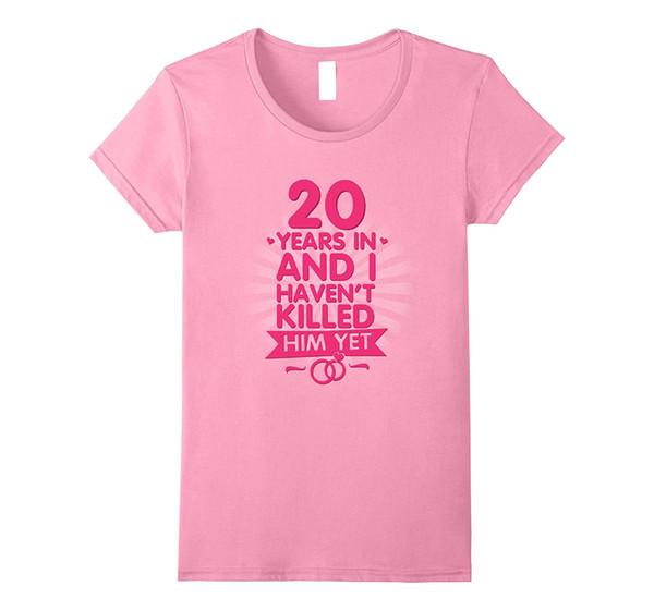Acheter Tee Pour Femmes 20 Ans De Mariage T Shirt Cadeau 20ème Anniversaire Pour Femme Pour Dame De La Mode Karajuku Marque Femme Haut Moyen De