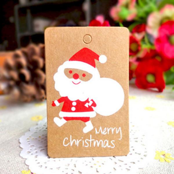 Frohe Weihnachten Wunsch.Grosshandel 4 5 7 Cm Frohe Weihnachten Wunsch Karte Grusskarte Aufkleber Ornament Anhanger Weihnachtsbaum Ornament Neuheit Geschenke Kraftpapier