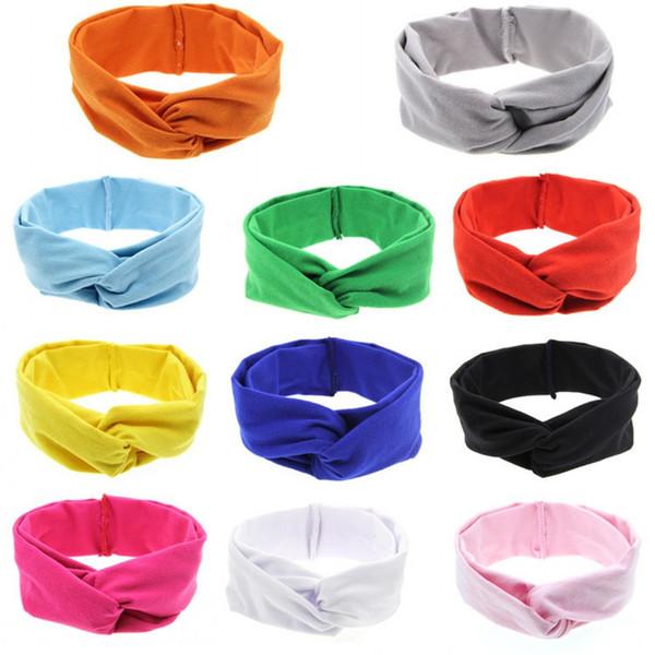 knot headband turbans hairband Cotton Knotted Headband head wrap Newborn Gown knot nylon head wrap vintage style