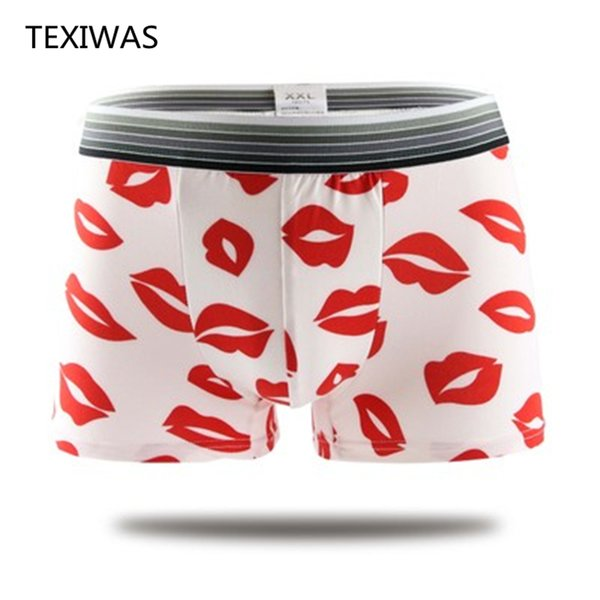 2017 new cartoon male panties sexy full men's trunk low-waist panties male cartoon underwear men
