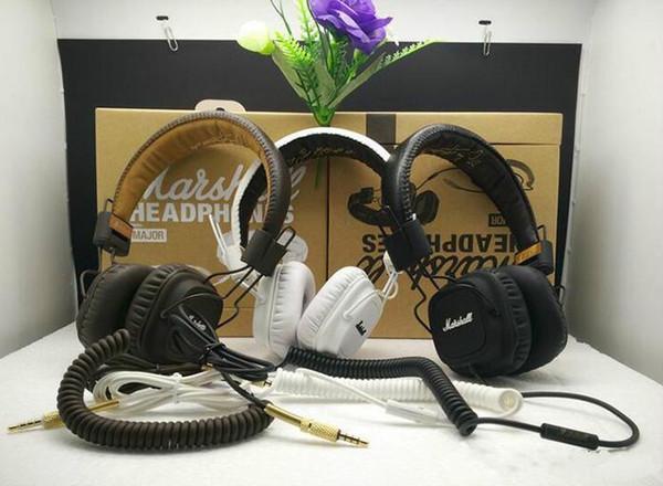 100% authentique Marshall Major casque avec micro basse profonde DJ casque Hi-Fi casque HiFi casque professionnel DJ Monitor Headphone