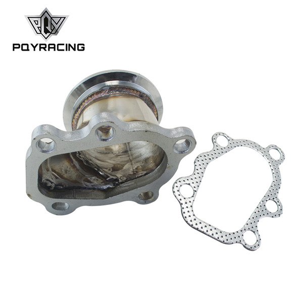 """PQY - Stainless Steel Adapter for T25 T28 GT25 GT28 2.5"""" 63mm V-band Clamp Flange Turbo Down Pipe Adapter PQY4833"""
