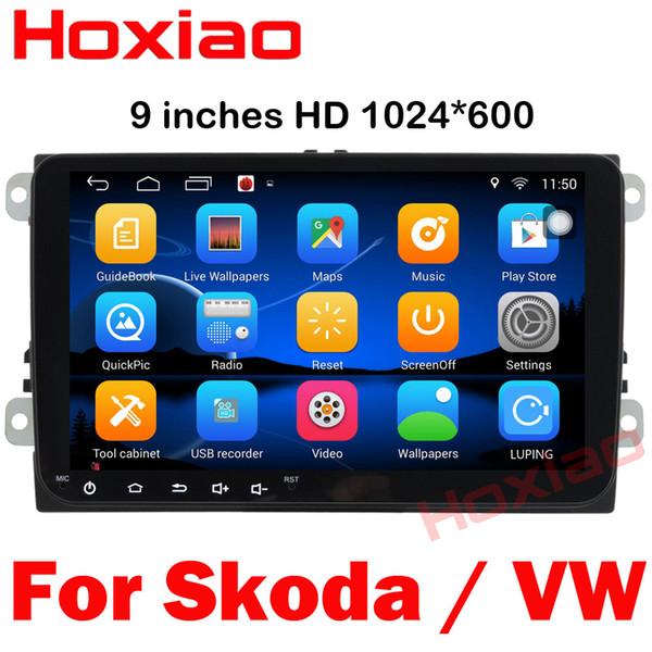 2 Din 9 Polegada DVD Player Do Carro Para VW / Volkswagen / POLO / PASSAT / Golfe / Skoda / Seat / Fabia Com Wifi Rádio GPS Bluetooth Mapa Android