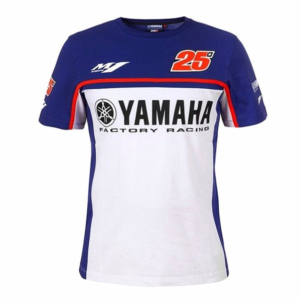 New motorcycle motogp 100% cotton summer casual T-shirt short sleeve Fit For Yamaha motogp 25 MAVERICK VINALES Men Short Tshirt