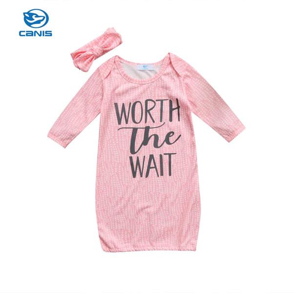 2017 Brand New Soft Muslin Toddler Baby Swaddling Long Sleeve Blanket Newborn Infant Cotton Swaddle Towel Headband 2Pcs Set 0-18