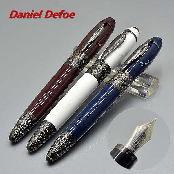 Великий писатель Даниэль Дефо Коллекционные ручки Красное / черное / синее / белое вино Перьевая ручка 4810, 14k, перо с серийным номером MB 0301/8000
