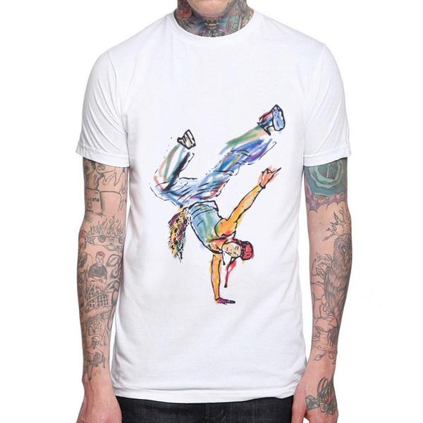 2018 New Sale Rapper Street Dance Men T Shirt Rap Hiphop 100% Cotton Man Cool T-shirt Dancing Graphic Print Mens Tee Shirts Tops