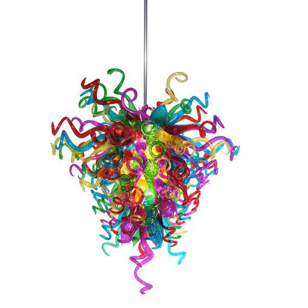 Style Light Fixture Design Modern Living Room Lamps Chandeliers 100% Mouth Borosilicate Murano Hand Blown Glass Chandelier