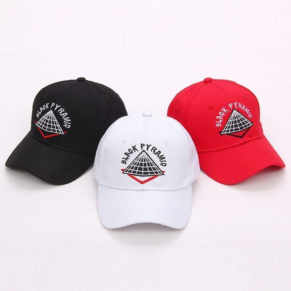 Berretto da baseball regolabile in cotone Snapback Bone Ajustable Ricamo Hip Hop Unisex Piramide Berretti da baseball Casual Nero Bianco Rosso Diamond Hat