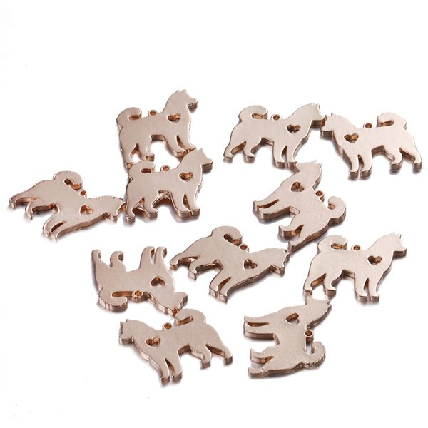 100pcs/lot 17*18mm Animal Dog Charm Lovey silver/gold color Pet Dog Charms Pendant For Necklace Bracelet DIY Jewlery Findings